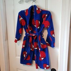 Boys Spiderman Fleece Robe with pockets - Size 6/7